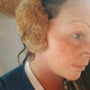 Rabbit fur earmuffs vintage